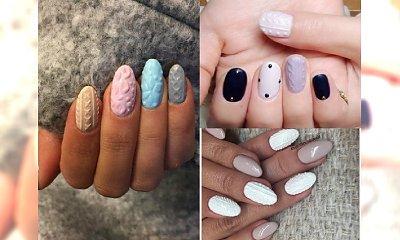 Super urocze manicure idealne na zimę - Sweterkowe paznokcie! Zobacz TOP 24 przytulnych wzorków!