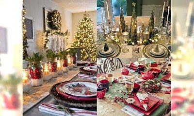26 niesamowitych pomysłów na bożonarodzeniową oprawę stołu. Zaimponuj swoim bliskim!