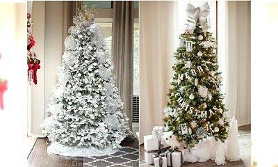 Choinka cała w bieli - super trend na Boże Narodzenie 2016