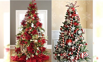Choinka w czerwieni - najpiękniejsze dekoracje na Boże Narodzenie