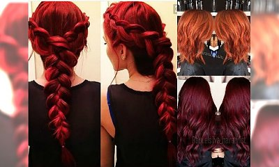 Rude kolory włosów idealne na jesień: krwista czerwień, miedź, wino
