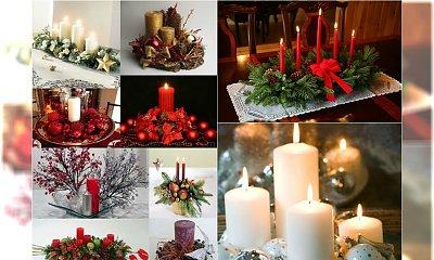 Stroik ze świecą na stół - 20 prostych dekoracji, które zrobisz sama
