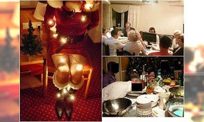 Najgorsze zdjęcia ze świąt. Grają w gry przy stole, fotografują się nago. Te absurdy trzeba zobaczyć!
