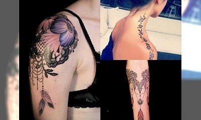 Magiczne wzory tatuażu z koronką, które Was uwiodą - Ultra kobiece propozycje na 2016 rok