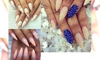 Spiczaste paznokcie w cielistym kolorze - styl, szyk i seksapil w jednym