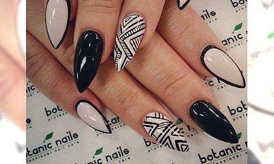 Cudowny, czarno- biały manicure na każdą okazję!