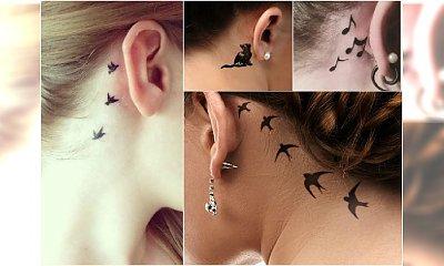 Uroczy mały tatuaż za uchem - co powiecie na te wzory?