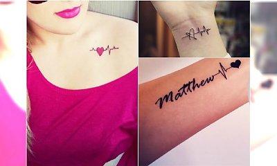Tatuaż heartbeat - ten motyw uwielbiają dziewczyny! Zobaczcie najciekawsze wzory