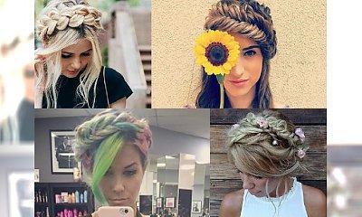 35 Ślicznych fryzur z zaplataną koroną - Zainspiruj się przeuroczymi inspiracjami tego sezonu