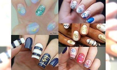 Marynarskie manicure na lato, jakich jeszcze nie widziałyście! Ponad 20 uroczych wzorków