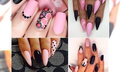 Czarno- różowy manicure - stylowo przełamujemy cukierkowy kolor