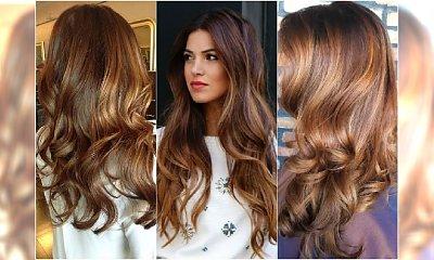 Karmel i toffi - te kolory włosów są hitem! Wypróbujcie ombre, sombre i refleksy