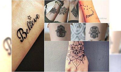 Tatuaż na ręce - wzory na nadgarstek, dłonie i ramiona [WIELKA GALERIA]