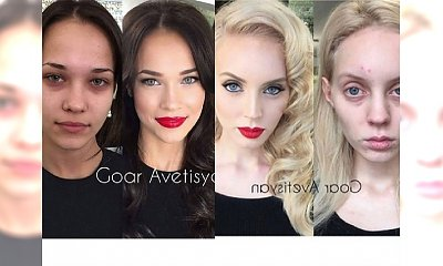 SZOK! Makijaż zmienił te dziewczyny nie do poznania!!!