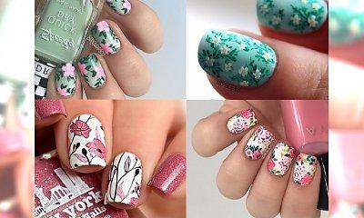 Floral pattern manicure: aż 90 uroczych propozycji
