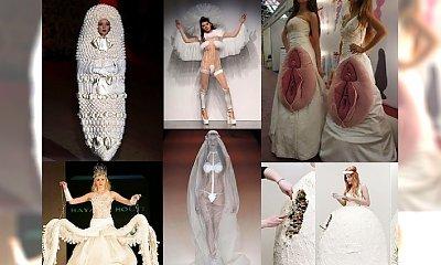 ALE OBCIACH! Koszmarne suknie ślubne- czy na prawdę ktoś założył to na ślubną ceremonię?