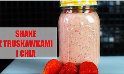 Shake truskawkowy z nasionami chia