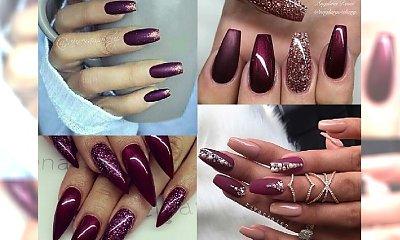 Burgundowy manicure - cudowny kolor, który zawsze powraca jesienią