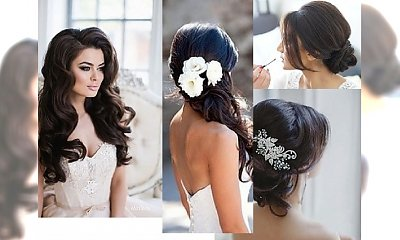 Stylowe fryzury ślubne dla brunetek - inspiracje