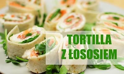 Zawijana tortilla z łososiem i rukolą