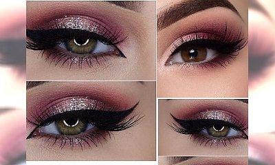 Super seksowny makeup z burgundowym cieniem w roli głównej