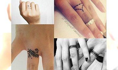 Tatuaż a'la pierścionek - biżuteria, której nigdy nie zgubisz