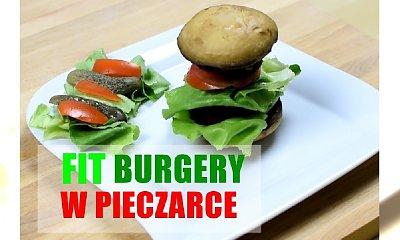 Pyszne fit burgery serwowane na pieczarce