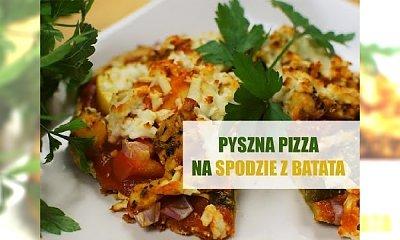 Pyszna pizza na spodzie z batata