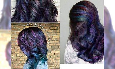HIT ZIMA 2016: Oil Slick Hair, czyli koloryzacja imitująca.... barwę rozlanego paliwa!