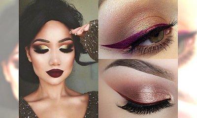 Makijaż idealny na jesień: burgudnowy eyeliner z dodatkiem złota! Nasz typ
