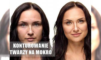 Ponadczasowy hit makijażowy: konturowanie twarzy na mokro