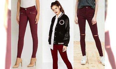 Bordowe spodnie to absolutny must have! Top 10 z popularnych sieciówek