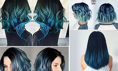 Blue ombre - nieziemsko piękny efekt dla brunetek
