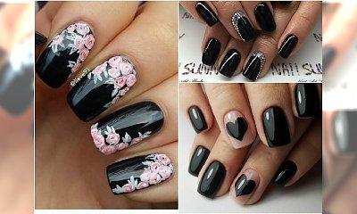 Czarne paznokcie urocze jak nigdy! Wypróbujcie koniecznie te wzory