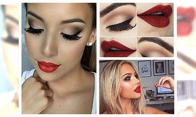 Klasyczne czerwone usta nigdy nie wyjdą z mody! Zobacz makijaże, które dodadzą seksapilu każdej kobiecie.