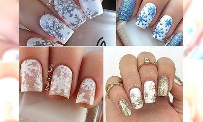 ZIMA 2016: Winter nails! Zimowy manicure z płatkami śniegu
