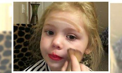 5 latka wizażystką! Czy to jest normalne dzieciństwo ? Zobacz jak ta dziewczynka robi makijaż