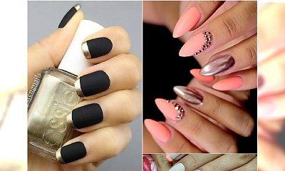 Mat i chrom na paznokciach to gorący trend w manicure! Przejrzyjcie najpiękniejsze wzory