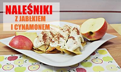 Jesienne fit naleśniki z jabłkiem i cynamonem