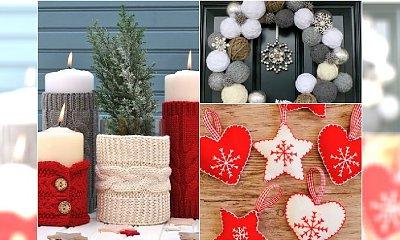 DYI: dekoracje świąteczne, które możesz zrobić sama - 20 fantastycznych pomysłów na bożonarodzeniowe ozdoby