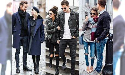 Moda na ulicach: najlepiej ubrane pary. Basicowe stylizacje dla niej i dla niego na jesień i zimę