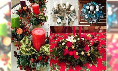 Stroiki świąteczne na Boże Narodzenie: ze świecą, z gałązkami świerkowymi, nowoczesne