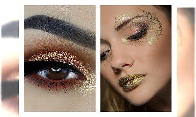 Złoty makijaż na sylwestra - olśnij wszystkich swoim wyglądem!