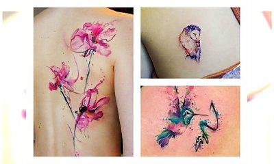 Watercolor tattoo- tatuaż jak z obrazka! Najgorętsze wzory 2017