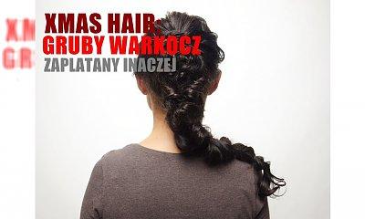 Gruby warkocz zaplatany inaczej - idealna fryzurka na święta! Zobacz, jak go zrobić i zabłyśnij