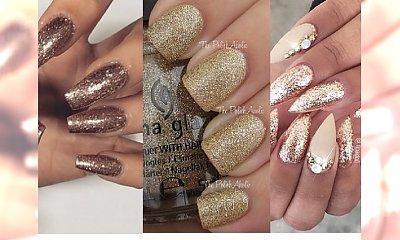 Złoty manicure - idealny na Sylwestra!