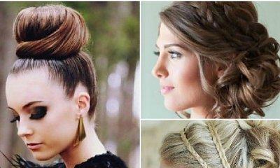 TOP 10: Eleganckie fryzury na Sylwestra 2017. Przepiękne koki i upięcia z loków