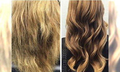Olaplex na zniszczone włosy - może zdziałać cuda! Zobaczcie, jak wygląda efekt przed i po
