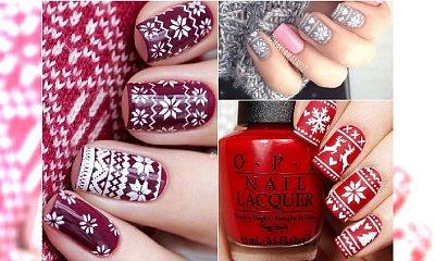 Wzorki norweskie na paznokciach - zimowy HIT w manicure!