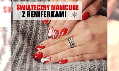 RED XMAS NAILS: Jak zrobić świąteczny manicure z reniferkami? Pokazujemy krok po kroku!